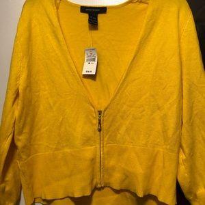 Ashley Stewart Cropped Cardigan Sweater